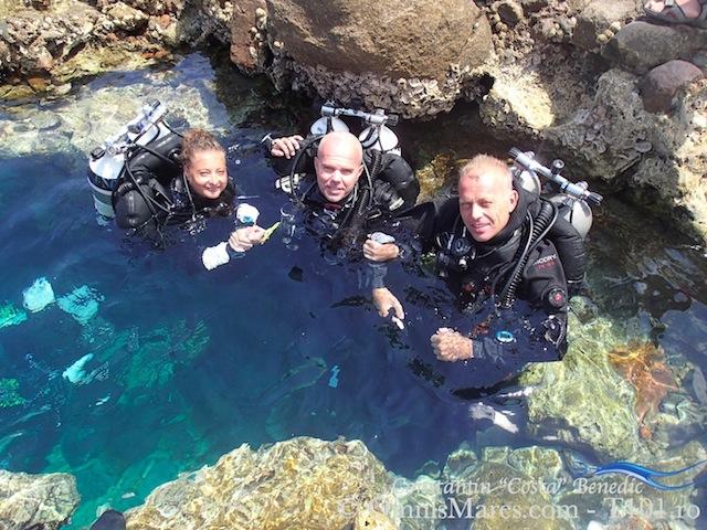 Site- ul de scufundari intre scafandru