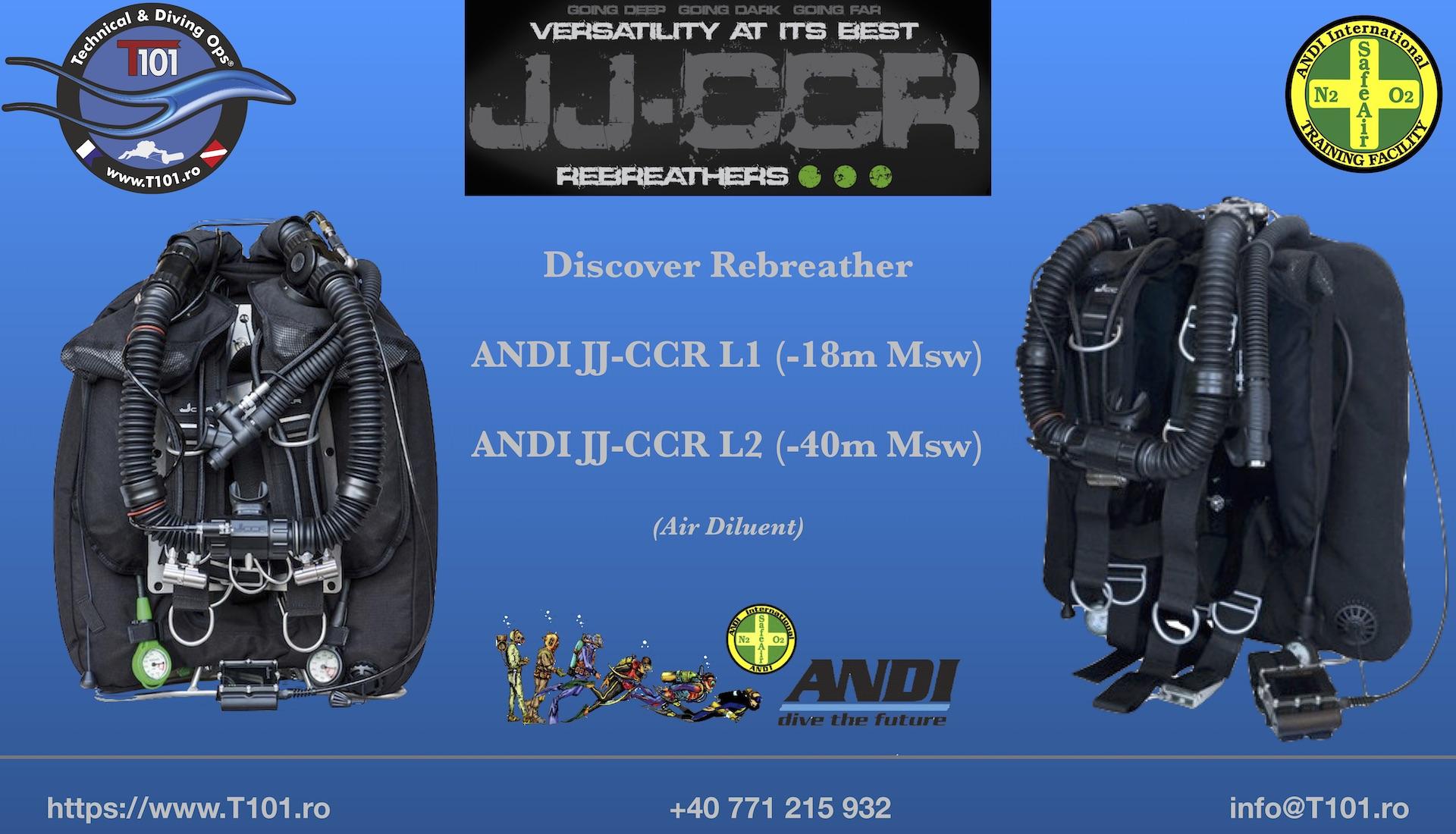 Rebreather JJ-CCR training in Romania & SE Europe.